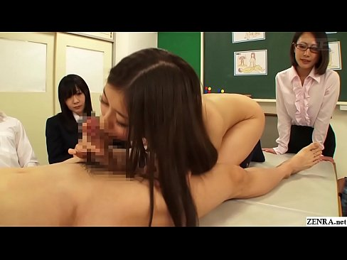 Japanese school sex demonstration blowjob portion Subtitles