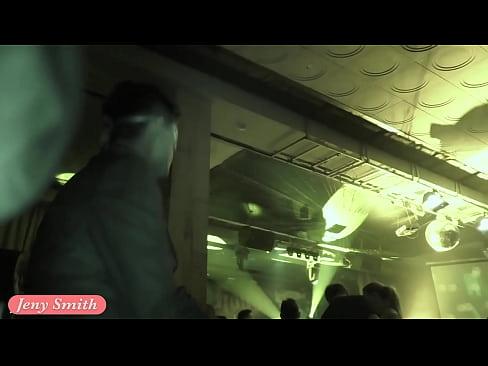 Upskirt flashing in a club by Jeny Smith. Hidden camera
