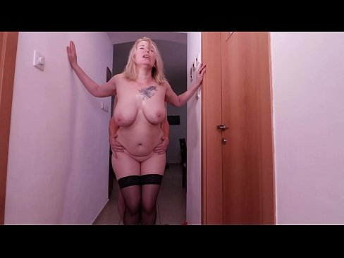 Hot fuck in the hallway