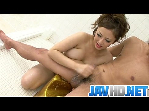 Meisa Hanai gets nasty on cock in the war shower