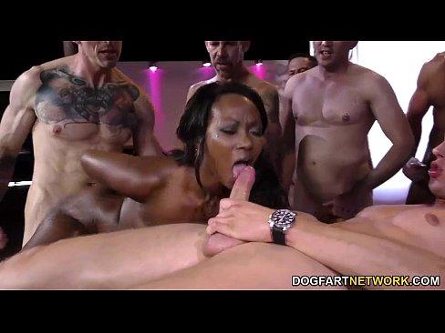 Ebony anal gang bang