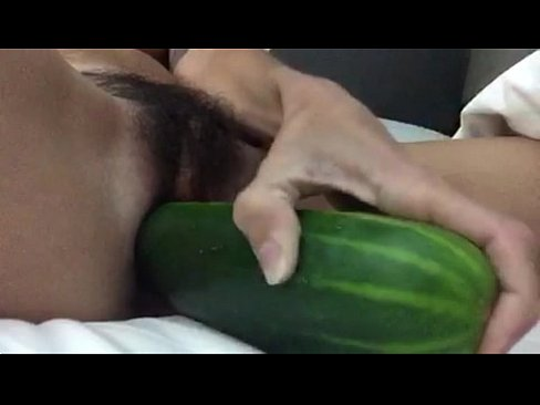 Cucumber becomes anal toy