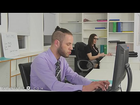 GenderX - Trans Boss Fucked In Office After Hours