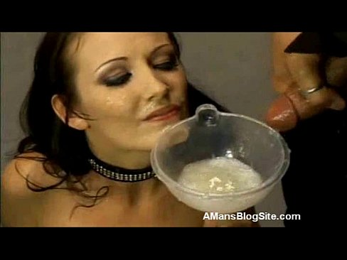 Cum funnel mouth gag