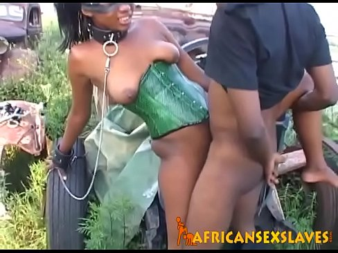 African girl having sex