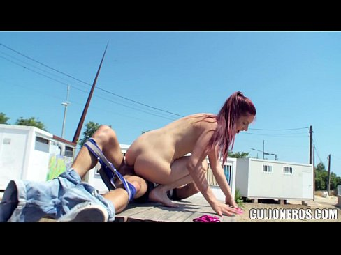 redhead model fucked out in public