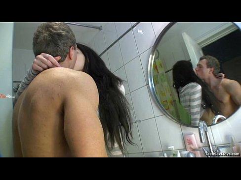 Brunette School Girl Bathroom