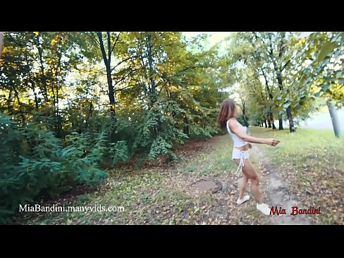 Real public anal sex near the road with cumshot in mouth. Mia Bandini
