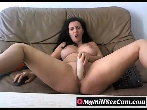 Sexy busty Milf teasing on webcam on MyMilfSexCam.com
