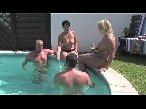 German milf gets fucked outside