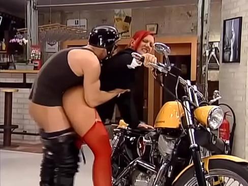 Orgy Biker chick