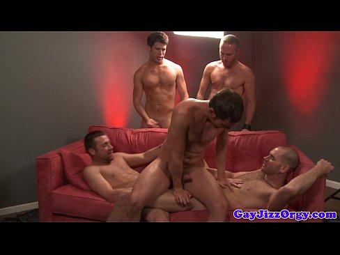 Gay Orgy Facial