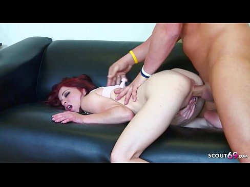 Cute Redhead Punk Girl Seduce to Fuck by Huge Cock Stranger
