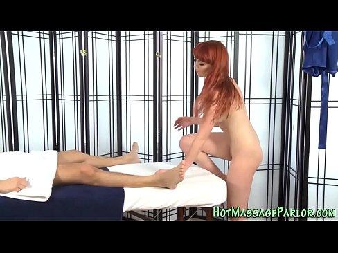 Redhead Masseuse Blow Cum