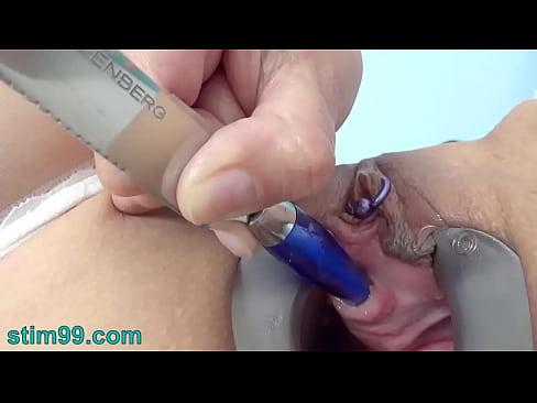 Masturbation with kitchen objects