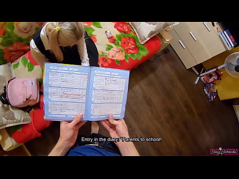 Brother Punished Cute Young Schoolgirl Sister For Bad Studies   POV & English Subtitles