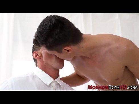 Gay Mormon Elder Cummed