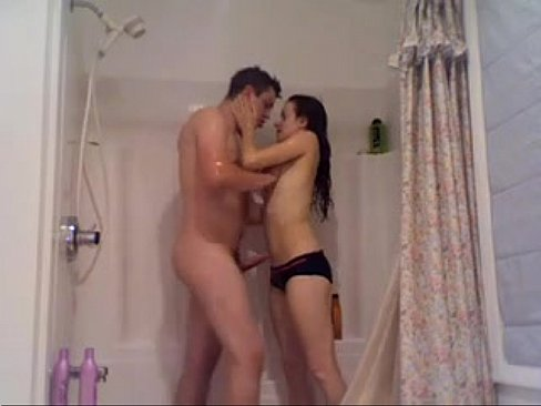Amateur shower sex
