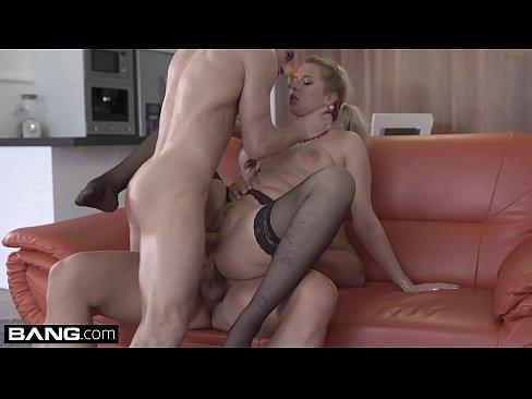 Big breasts blonde blowjob fellatio gang bang gif groping