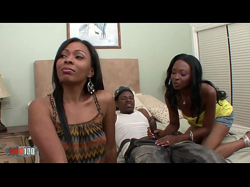 ebony babes Dvae & Anita Peida hardcore threesome with Jon Q