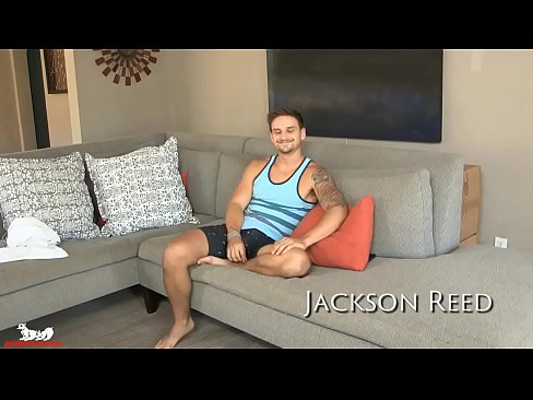 Jackson Reed relaxes & pushes the dildo deep into his ass