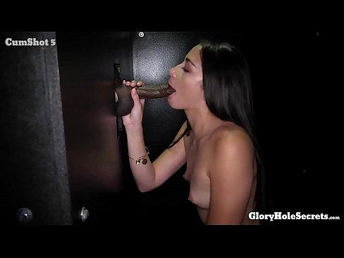 SEXY SLENDER AVI LOVE MILKS 10 COCKS AND EATS CUM