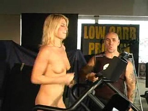 nude Naked on treadmill
