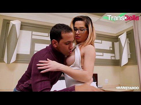 TRANSBELLA - Brazilian Big Ass Tranny Natalia Castro Has Anal Sex With A Horny Guy From Tinder