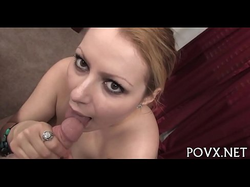 Alluring bitch loves gentle blowjobs