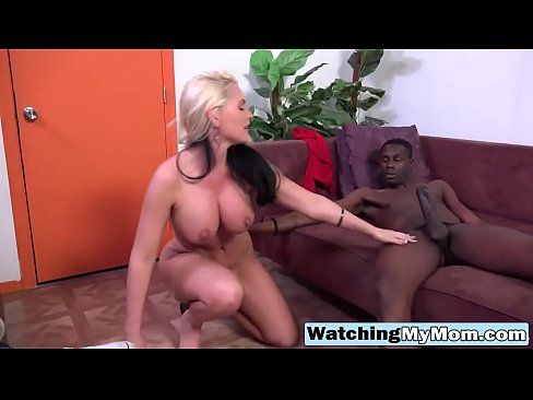 Alena Watched By Step Son While Pleasing Big Black Cock
