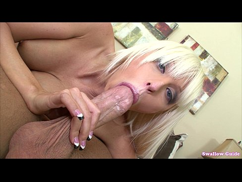 Rikki Six opens mouth wide for load