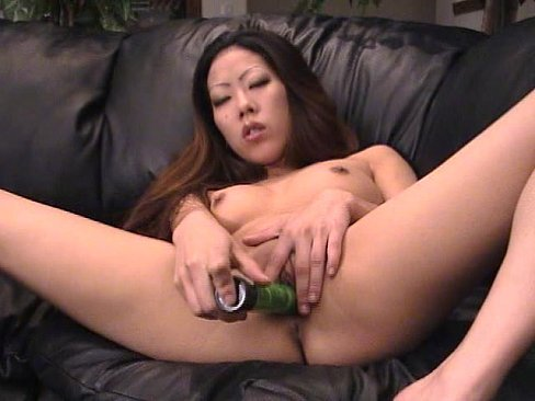 Asian slut dildo fucks cunt