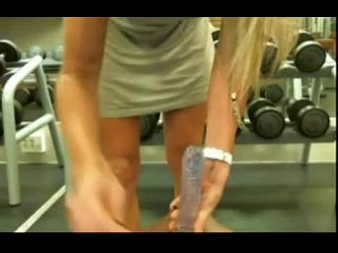Masturbating in the gym