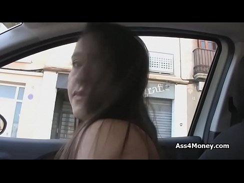 Spanish Teen Blows In Car For Money
