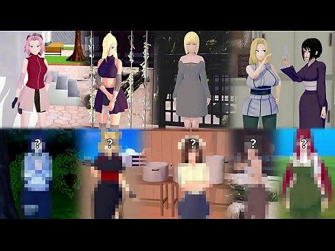 Naruto Harem (Sakura, Ino, Tsunade) 3D Hentai