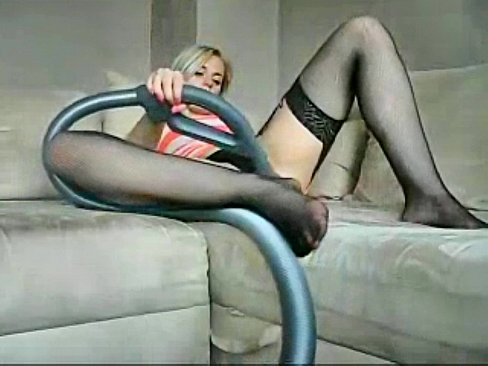 Sophie in miniskirt glasses and stockings plays with her hairy pussy's Thumb
