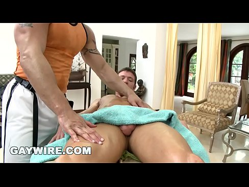 Trace michaels receives a massage