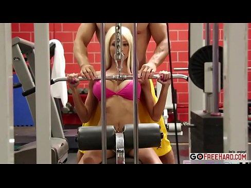 Smoking Hot Blonde Rikki Six Tastes Her Coachs Dick