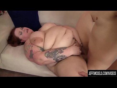redheaded fatty bailey belle enjoys getting screwed by a long dick