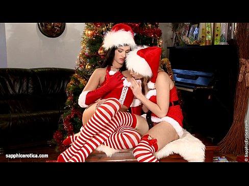 lesbisk Christmas sex liten fitta stor svart kuk