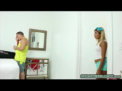 Sporty latina stepsisters crush on stepbro ends in a fuck