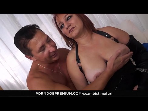 SCAMBISTI MATURI - Mature Italian BBW Kiara Rizzi enjoys dirty anal swinger sex