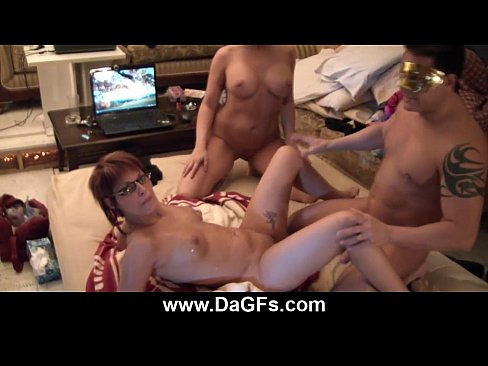Two milf sluts fucked foursome action