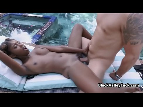 Chocolate princess vanilla cocked by the pool