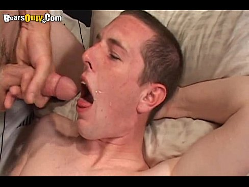 Gay man cumming