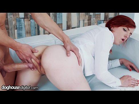 DogHouse Redhead Can Barely Handle this Sizable Cock