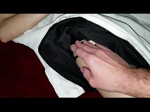 Sleeping school girl virgin cousin gets fingered for the first time