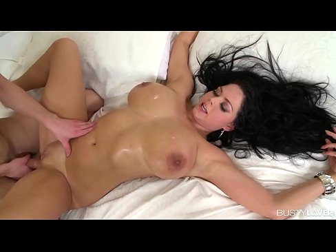 Busty lovers crave sexy Shione Cooper's big boobs to suck & fuck hardcore