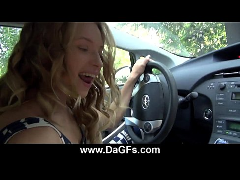 horny slut rides dick while driving best public fuck ever