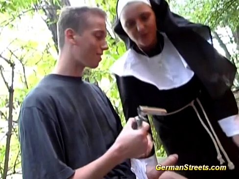 cover video Naughty German  Nun Loves Cock